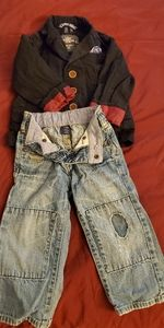 Toddler H&M Blazer and Baby Gap soft Jeans